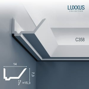Profil LED poliuretan ORAC DÉCOR C358 - 200 x 14 x 7